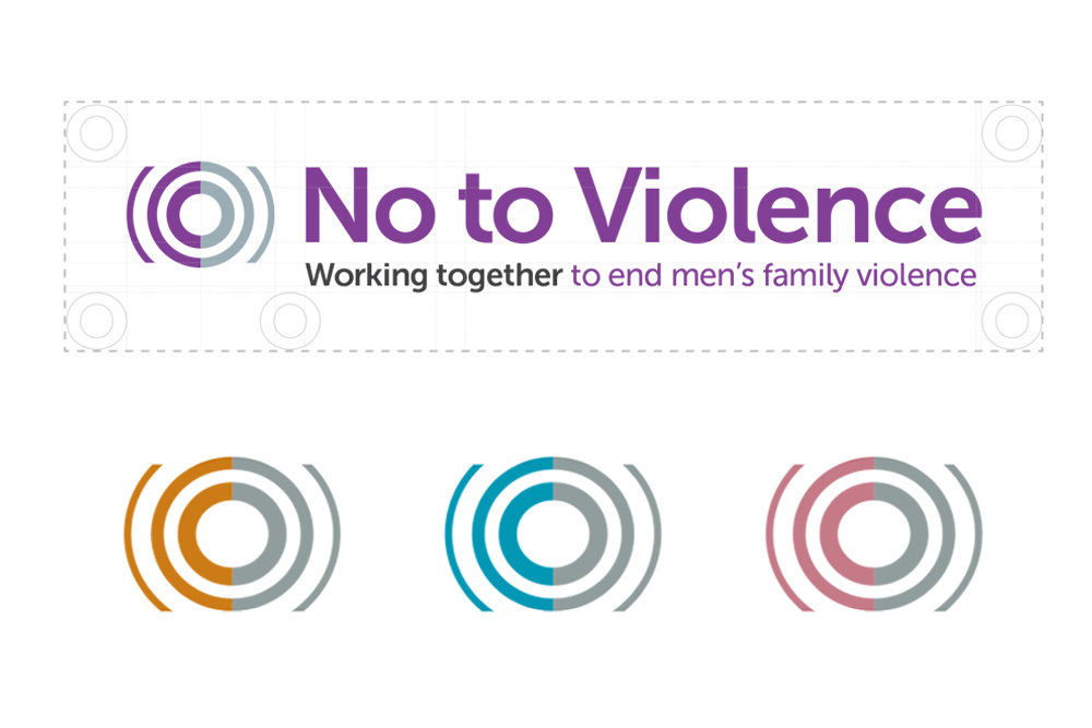 No to Violence branding | Disruptive Media